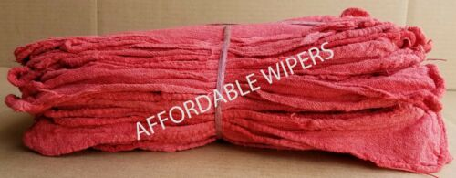 INDUSTRIAL CLEANING TOWELS RED 14x14 Affordable Wipers 100 NEW SHOP RAGS