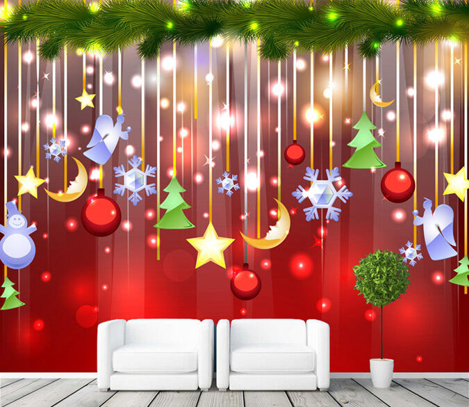3D Dekorative Sterne 4322 Fototapeten Wandbild Fototapete BildTapete Familie DE