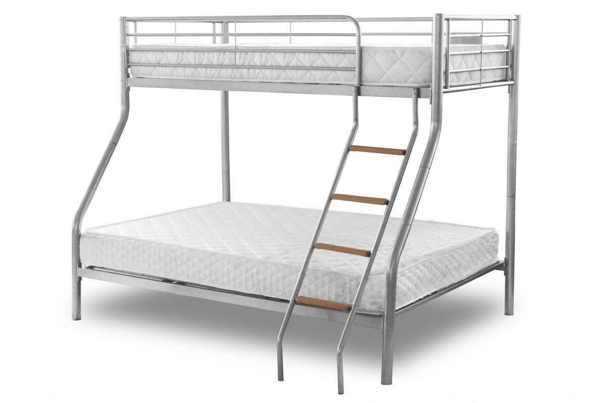 Picture of: Genuine Ikea Tromso Metal Bunk Bed In Silver With Mattresses For Sale Ebay