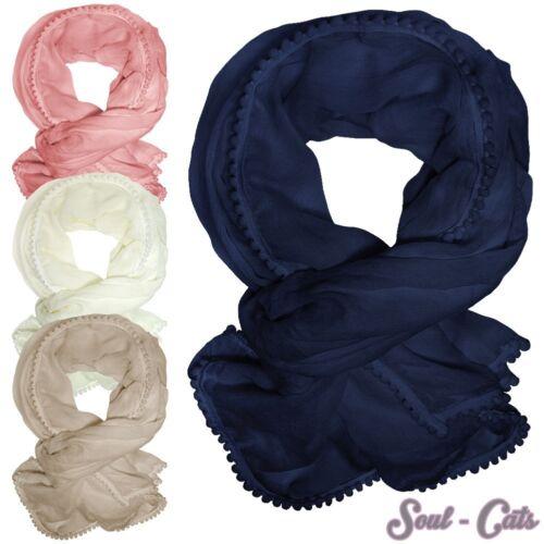 Encantandora bufanda PAÑUELO en colores hermosos beige azul oscuro ros crema//blanco
