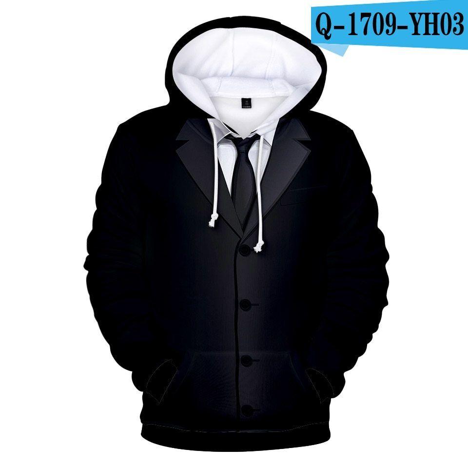 Anzug Krawatte Smoking 3D Hoodie Sweatshirts Kapuzenpulli Sport Hip Hip Hip Hop 95cbe4