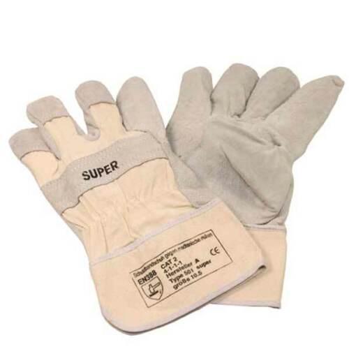 CE Gr.10,5 gemäß EN 388-Cat.2 120 Paar dicke Spaltlederhandschuhe