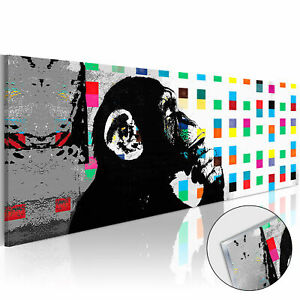 Acrylic Glass Print Image Wall Art Picture Photo Monkey Banksy g-B-0031-k-a