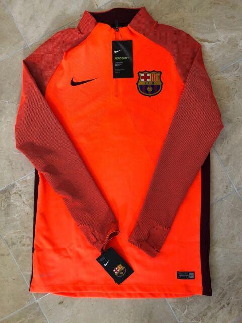 Nike FC Barcelona Strike Aeroswift 1 4 Zip Football Drill Top 858306-813  Size d1a86f5433d