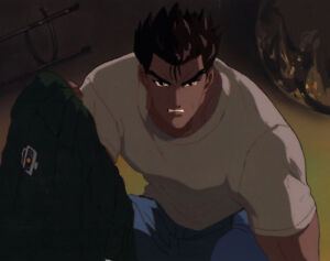 Details About Street Fighter Ii V Anime Production Cel Ryu Vs Guile Background Rare A1 1995