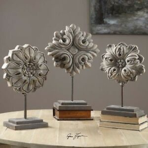 Details About Aged Ivory Flowers Table Top Decor S 3 Tabletop Decorations