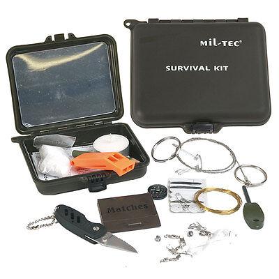 SURVIVAL KIT Überlebensset, Notfallset Combat Notfallbox Outdoor Set wasserdicht