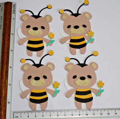 **brand New** 14 X 3inch Bear Toppers - Perfect For Smaller Cards 024 Uitstekende Eigenschappen