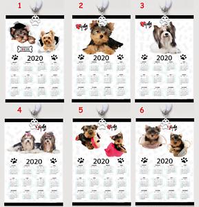 YORKSHIRE TERRIER  Kalender calendar 2020 Polyester Wandkalender Wall caledar
