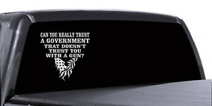 2ND AMENDMENT GUN COOL AMERICAN EAGLE VINYL DECAL STICKER ART CAR WALL DECOR