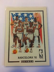 1992-Skybox-USA-Basketball-Barcelona-Dream-Team-Gold-Michael-Jordan-Magic
