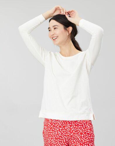 Cream Joules Womens Abi Jersey Long Sleeve Night Top