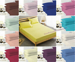 Image Is Loading Easy Care Extra Deep 40cm Ed Bed Sheets