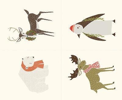 "MODA Fabric Quilt Panel ~  MERRILY ~ Gingiber (48210 11) 36"" x 45"" FREE PATTERN"