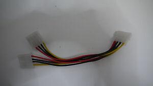 Y-Kabel-Stromversorgung-Stecker-an-2-x-Molex-4PIN-Molex-Splitter-IDE-Stromkabel