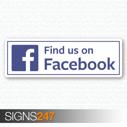 FIND US SOCIAL NETWORK STICKER large 30cm Vinyl Decal Car Sticker Van Coach Taxi