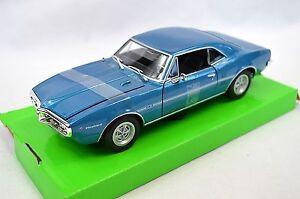 PONTIAC-FIREBIRD-H-O-1967-bleu-welly-1-24-metalliques-nouveau-22502
