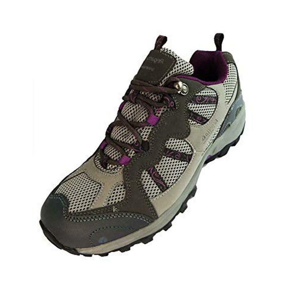 Regatta Womens Water Resistant Hiking shoes Outdoor Walking Skyedale Trainer Grey
