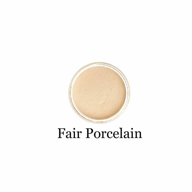 Mineralshack natural mineral face powderfoundation 6g sifter jar,and Face Brush