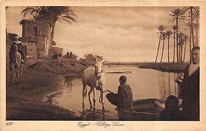 POSTCARD-EGYPT-Village-Scene