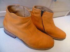 Jean Baptiste Rautureau zip ankle boot UK 7 41 mens orange leather chukka