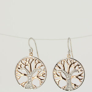 Earrings-Tree-of-Life-Silver-Rose-Zirconia-ae11002-angelsvoice-Red-Gold-Plated