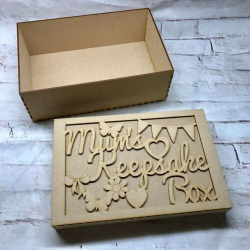 MDF Mothers Day Memory Wooden Box Make Your Own Happy Mothers Day