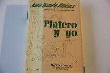 Juan Ramon Jimenez: Platero Y Yo Aguilar - Hardcover 1960 Con 50 Illustraciones