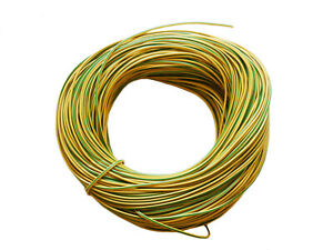 choose length 1-100 metre green and yellow insulation New Earth sleeve 2mm