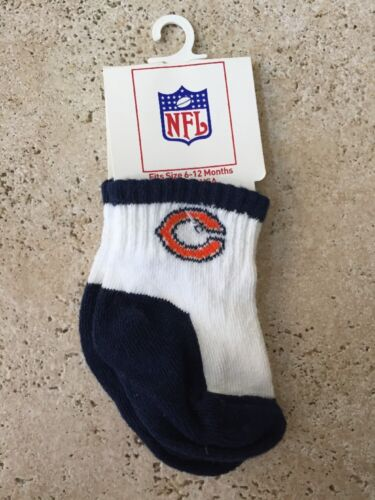 NFL TEAM APPAREL CHICAGO BEARS Baby TODDLER Socks 6-12 Months BN21