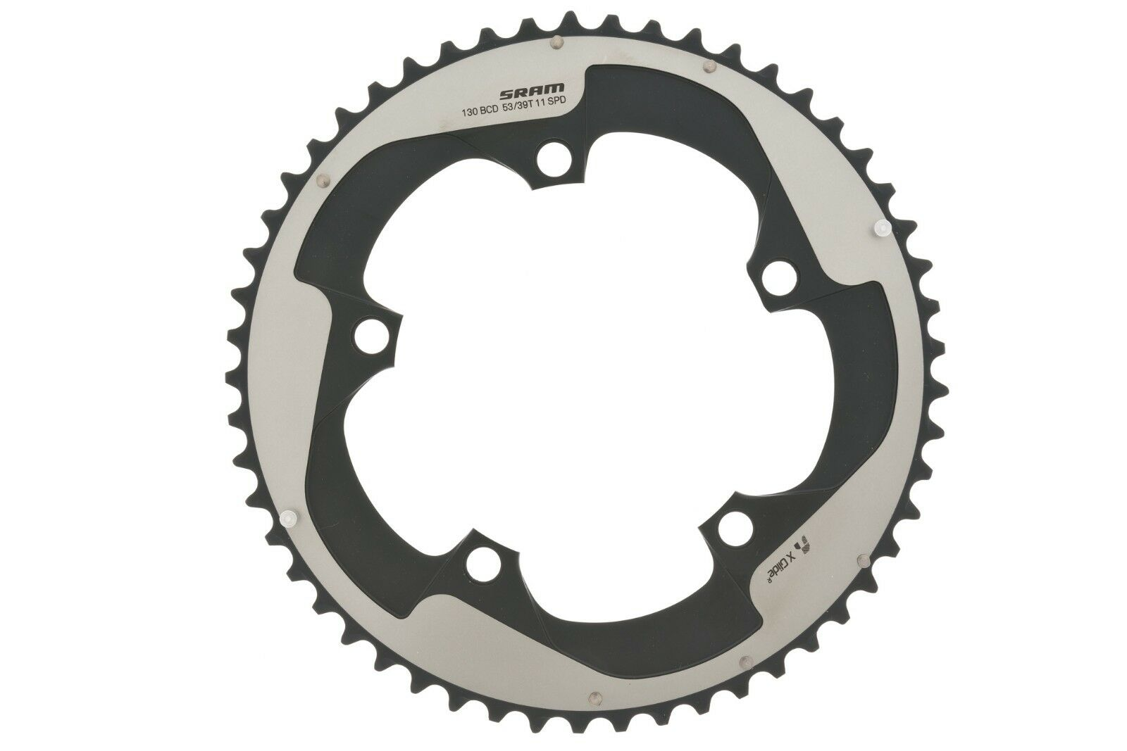 SRAM Red 22 Chainring 53T Yaw, S3, 130 BCD, AL5, - 11 Speed - Falcon Grey