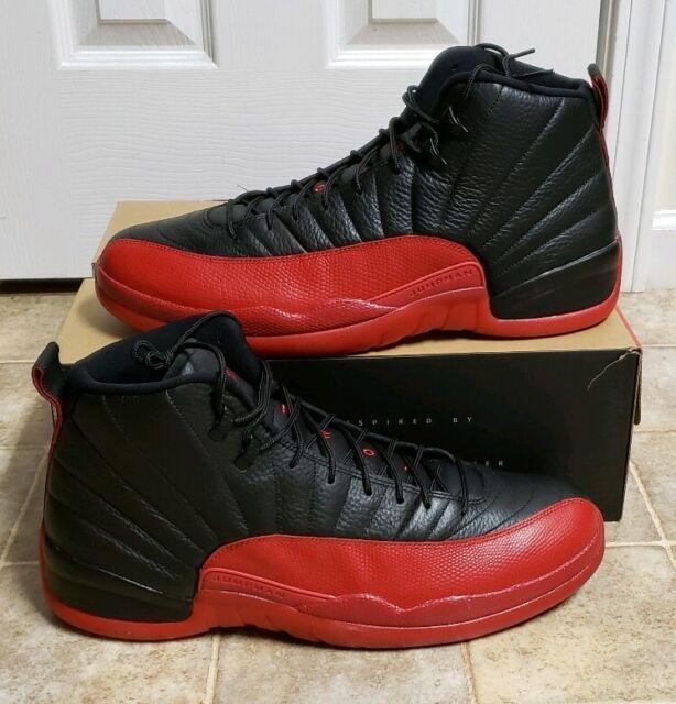 Artesano ola Zapatos  Nike Air Jordan 12 XII Retro Flu Game Bred Size 11 Black Red for ...