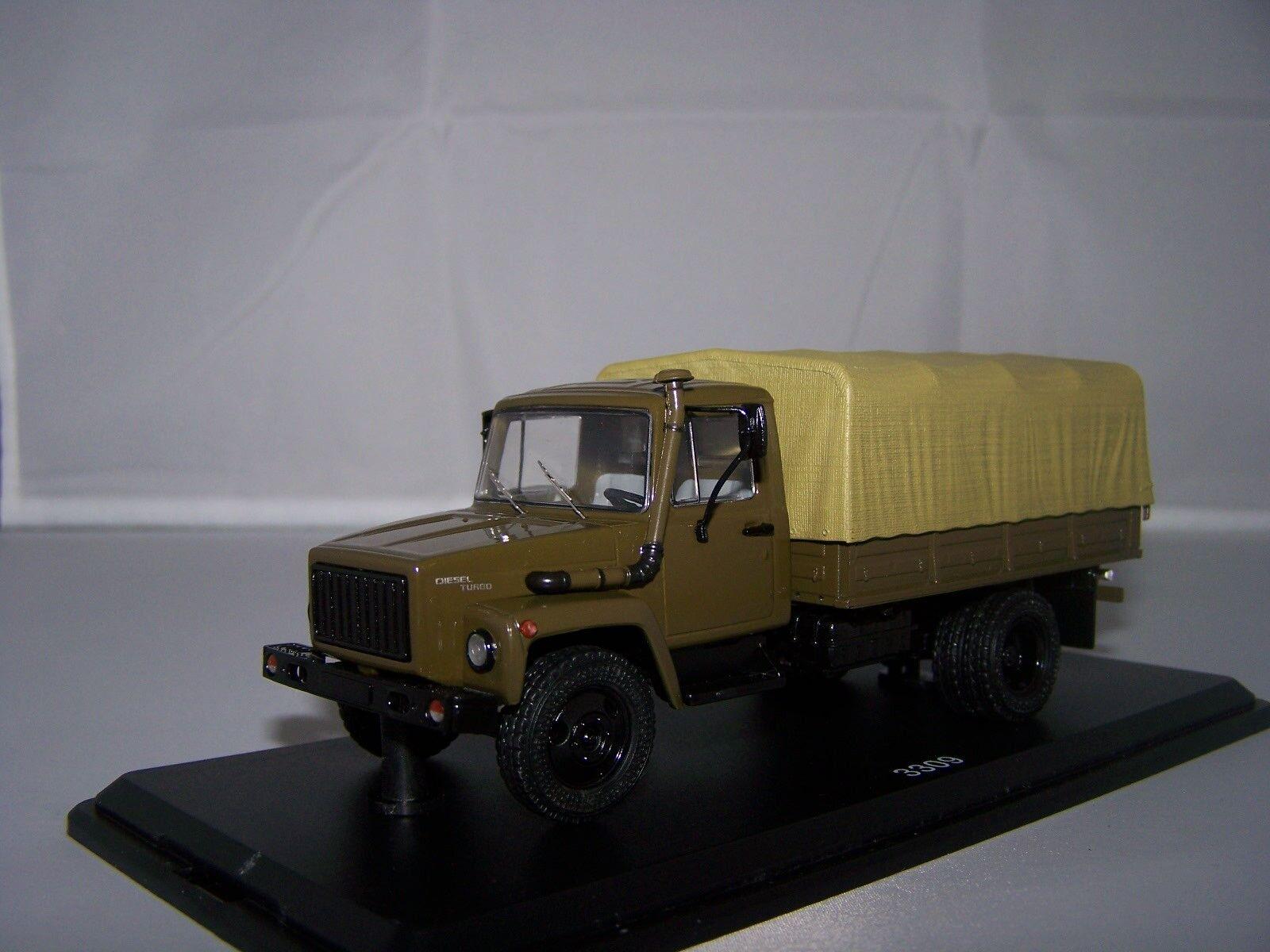 1/43 Militaire Start Scale Models  1153  GAZ-3309 Bâché Armée Russe