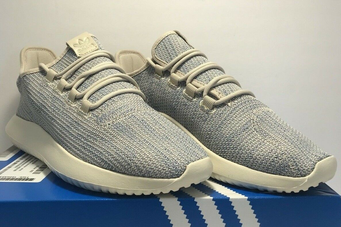 Adidas Mens Size 10.5 Tubular Shadow Knit CK Tactile bluee  Athletic Casual shoes