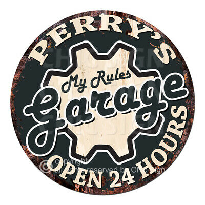 Garage Rules Sign Valentine Father