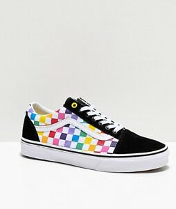 Details about Vans Old Skool Rainbow Checkerboard Checkerboard Pride Multi Color Skate Shoe