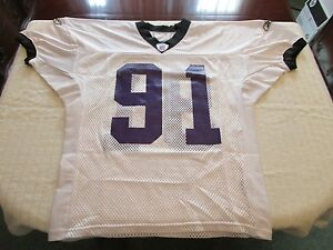 # 91 Baltimore Ravens Reebok Team Issued Player Worn Practice Jersey Size 54