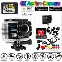 Sj9000 4k 30 Fps Sony-179a Sport Action Camera+38 In1 Accessories+free Battery