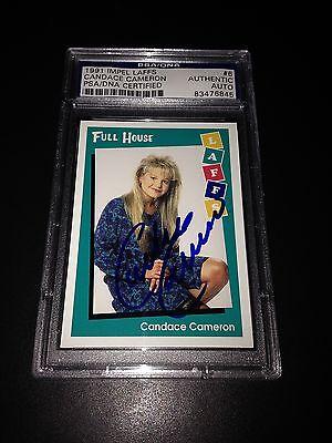 Candace Cameron Signed 1991 Impel Laffs Full House Card PSA COA #83476845