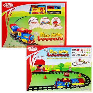 TOY-TRAIN-PUSH-ALONG-LOCOMOTIVE-SLIDE-LOCK-TRACK-MUSIC-CHILDREN-GIFT-PLAY-SET