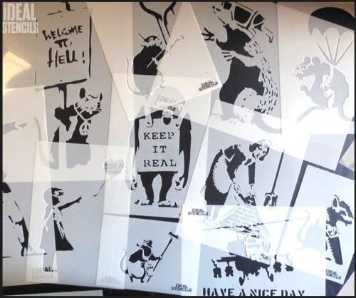 Banksy Barriendo Mucama Plantilla Reutilizable Artesanía Decoración Del Hogar