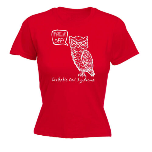 Irritable Owl Syndrome WOMENS T-SHIRT Sarcasm Poop Fart Rude Funny birthday gift
