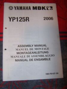 28 - Notice/manuel Montage/assemblage Supplement Yamaha Scooter Yp125r Yp 125 R H3oknigf-07221418-590096839