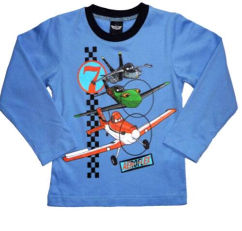shirt top 2 3 4 5 6 7 8 anni DISNEY Boys Dusty Planes personaggi maniche lunghe t