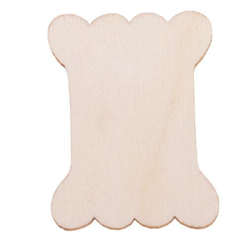 20 Stücke Holz Stickgarn Karten Kreuzstich Unterfaden Veranstalter Halter