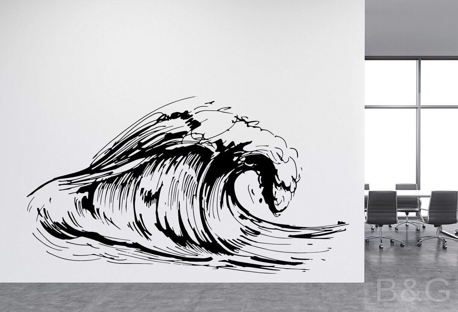 Ocean Big Wave Decal   Beach decal   Hawaiian decal   Surf Decal   Exotic   B&G