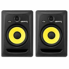 KRK Rokit RP8 G3 Active Studio Monitor Speakers (pair, black with yellow cones)