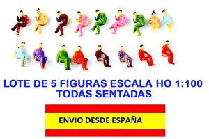 TRENES-ESCALA-HO-1-100-LOTE-DE-5-PIEZAS-FIGURAS-HUMANAS-SENTADAS-ESCALA-HO