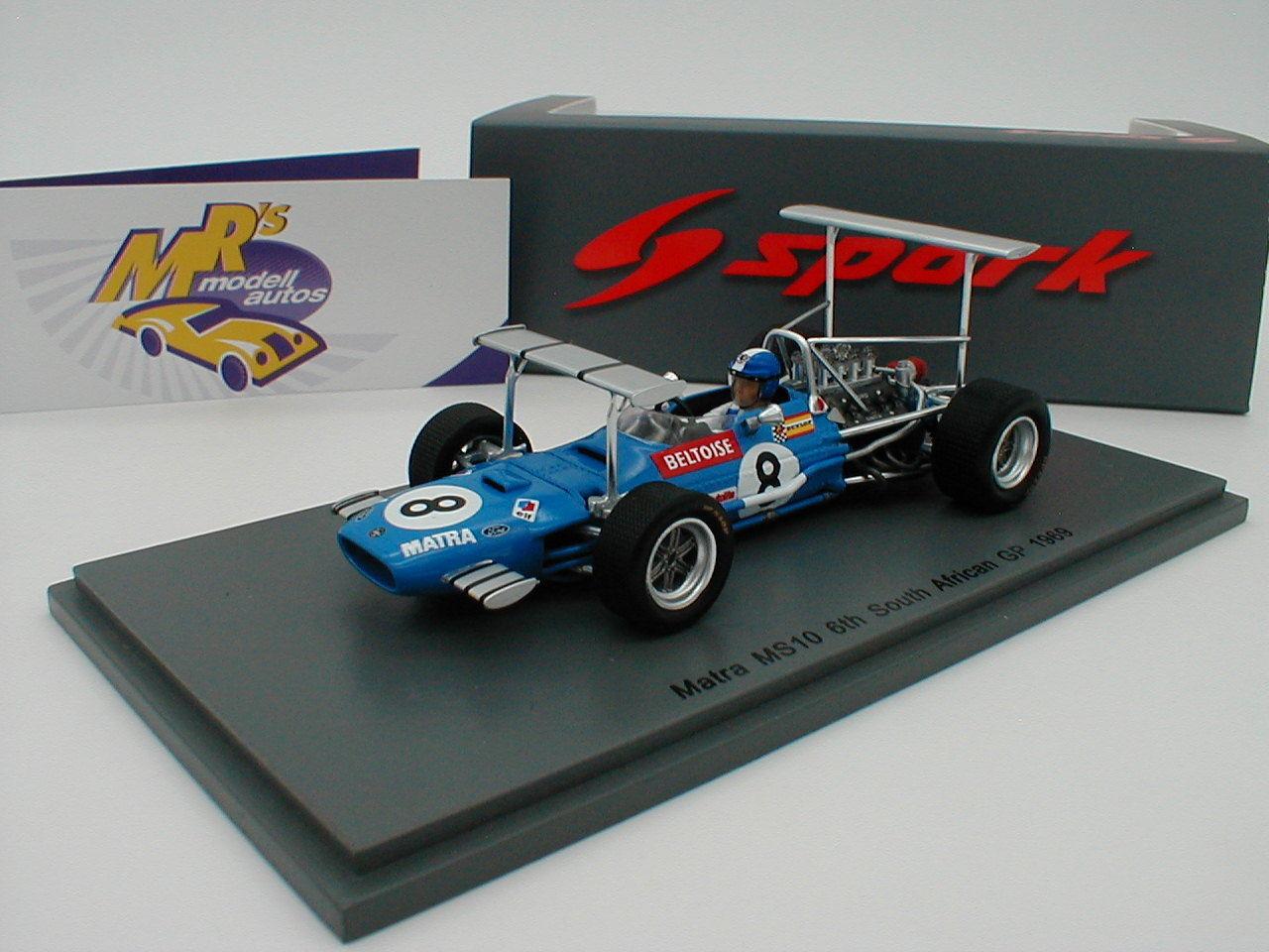 SPARK s5382-MATRA ms10 Nº 8 6th Afrique du Sud GP 1969  J-P. Beltoise  1 43 NEUF