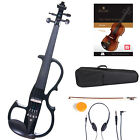 Cecilio Size 4/4 Electric Violin Ebony Fitted ~Black Style2